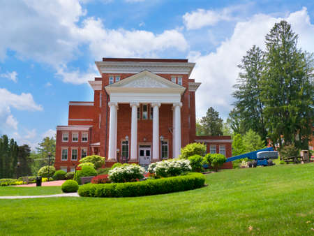 philanthropist: Carnegie Building in Lewisburg Park in West Virginia USA