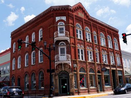 main street: Lewisburg Main Street in West Virginia USA Editorial