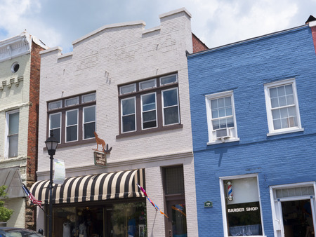 main street: Shops on the Main street  in Lewisburg in West Virginia USA Editorial