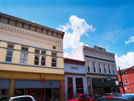 philanthropist: Shops on the Main street  in Lewisburg in West Virginia USA Editorial