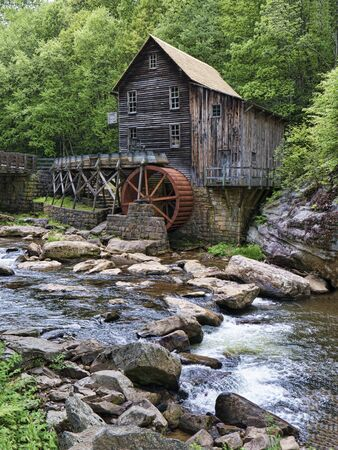 waterwheel: Glade Creek Grist Mill in Babcock State Park West Virginia USA