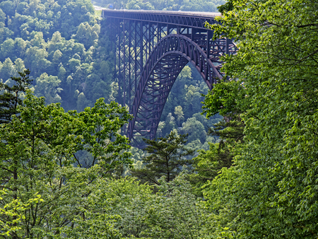 New River Gorge Bridge in Babcock State Park West Virginia USA