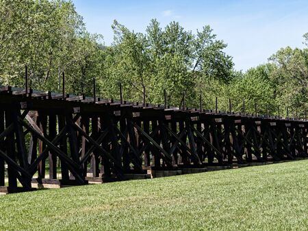 trestle: The train trestle at Harpers Ferry in Virginia USA