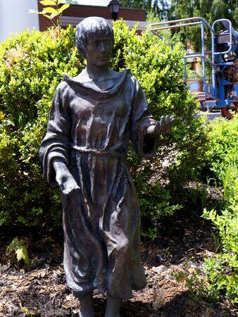 Statue outside the Carnegie Building in Lewisburg Park in West Virginia USA Stock fotó