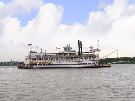 kentucky: Riverboat on the Ohio River in Louisville Kentucky Editorial