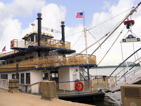 opulent: Paddlesteamer Riverboat on the River Ohio in Louisville Kentucky