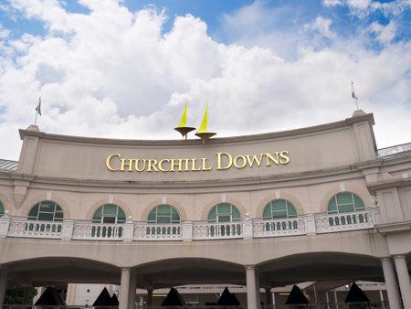 Churchill Downs de thuisbasis van de Kentucky Derby in Louisville VS Redactioneel