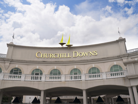 Churchill Downs home of the Kentucky Derby in Louisville USA Banco de Imagens - 43426314