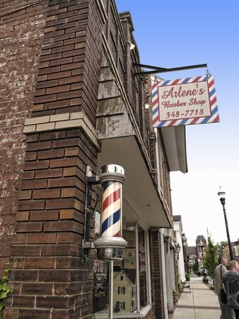 voted: Barbers shop in Bardstown Kentucky the town In 2012 was voted as the Most Beautiful Small Town in America