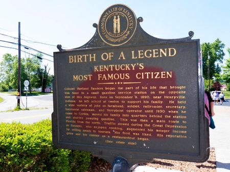memorabilia: The first original Kentucky Fried Chicken Cafe in Corbin Kentucky USA