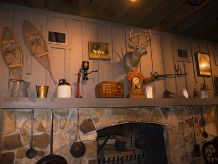 Rustic details in Cafe in Bardstown Kentucky the town In 2012 was voted as the Most Beautiful Small Town in America