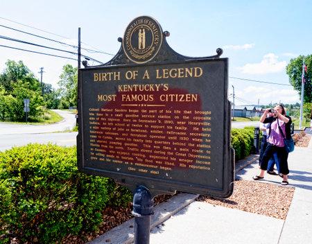 memorabilia: The story at the first original Kentucky Fried Chicken Cafe in Corbin Kentucky USA