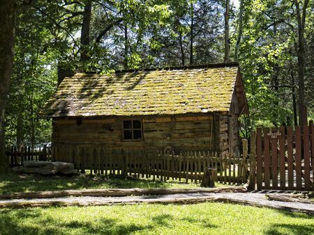 artefacts: Cabin Display in the Museum of Appalachia Clinton Tennesee USA