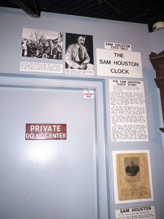 artefacts: Sam Houstons Clock in the Museum of Appalachia Clinton Tennesee USA USA