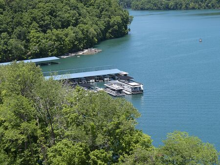 clinch: Lake Norris formed by the Norris Dam on the River Clinch in the Tennessee valley USA Stock Photo