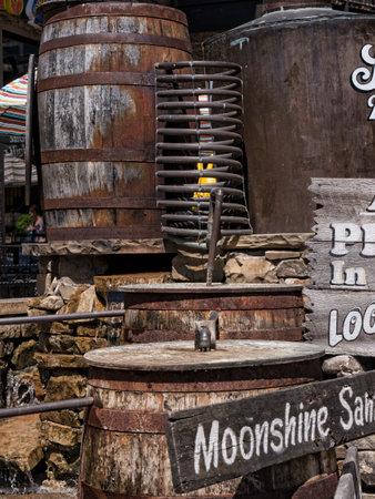 moonshine: Moonshine attraction in Gatlinburg Tennessee USA