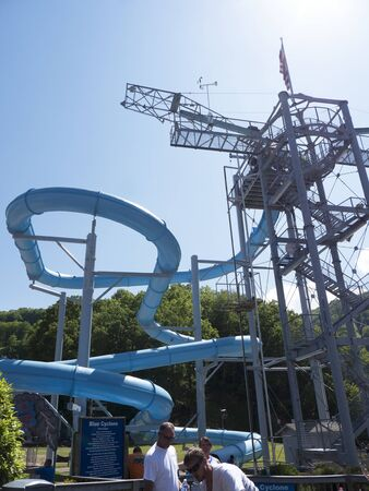 Waterslide up the Mountain above Gatlinburg Tennessee USA