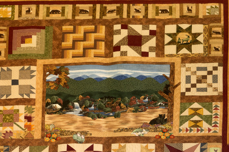 newfound gap: Wonderful Quilt in the Visitor centre for the Great Smokey Mountains National Park Editorial