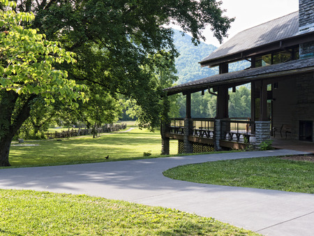 newfound gap: Visitor centre for the Great Smokey Mountains National Park