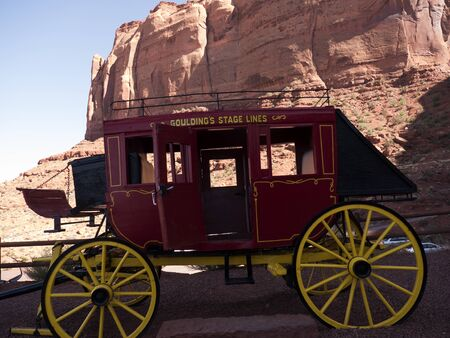 mesas: Stagecoach at Gouldings Lodge in Monument Valley Arizona