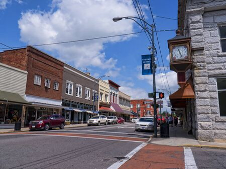 airy: Mount Airy  in North Carolina is also known as Mayberry and it is a town caught in the past when in the 1950s it was used to film the Andy Griffiths Show. The town has given itself over to recreating and memorialising a time when family values and communi