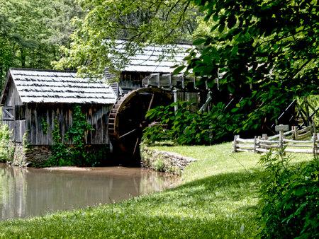 grist: Mabry Mill � stato un mulino macinare il grano in farina sulla Blue Ridge Parkway in Virginia ed � uno dei luoghi pi� fotografati in America