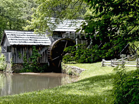brenda kean: Mabry Mill was a grist mill  grinding grain into flour on the Blue Ridge Parkway in Virginia and it is one of the most photographed places in America