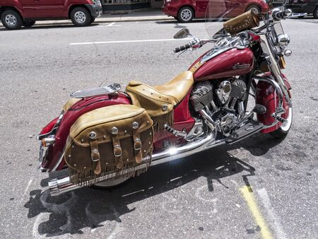 airy: Motorcycle in Mount Airy North Carolina USA Editorial