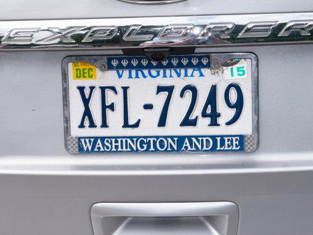 brenda kean: Virginia Automobile License Plates in Lexington Virginia USA Editorial
