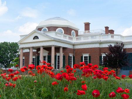 Monticello de sierlijke huis gebouwd door Thomas Jefferson op de rivier de Potomac in de buurt van Richmond Virginia USA