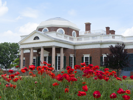Monticello the graceful house built by Thomas Jefferson on the Potomac River near Richmond Virginia  USA Stock Photo - 44457364