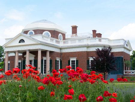thomas: Monticello the graceful house built by Thomas Jefferson on the Potomac River near Richmond Virginia  USA