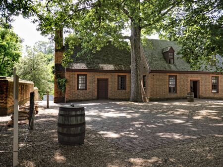 Governors Palace in Colonial Williamsburg where the earliest European settlers established their first colony in Virginia USA