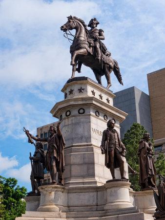 Statue of Robert E Lee near Alexandria Virginia USA