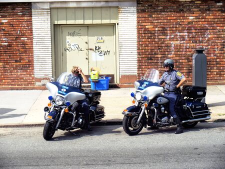brenda kean: Police Motorcyclists on the Outskirts of Washington DC USA Editorial