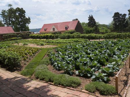 Garden of Mount Vernon George Washingtons Home on the Banks of the River Potomac USA