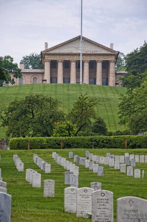 national military cemetery: Memorials and headstones in Arlington National Cemetery in Virginia USA Editorial