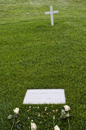 national military cemetery: Robert Kennedys Grave marker in Arlington National Cemetery Virginia USA