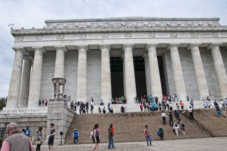 lincoln: Lincoln Memorial with its Enormous Statue of Abraham Lincoln in Washington DC USA Editorial
