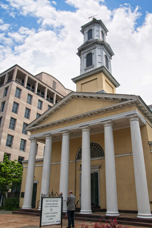 grecian: St Johns Church in Lafayette Square in Washington DC USA