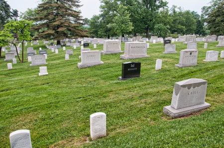 headstones: Memorials and headstones in Arlington National Cemetery in Virginia USA Editorial