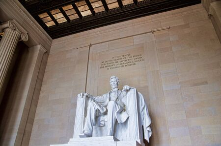abraham lincoln: Lincoln Memorial with its Enormous Statue of Abraham Lincoln in Washington DC USA Editorial