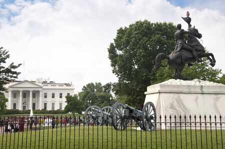 war bird: Statue of Stonewall Jackson near the White House in Washington DC in the USA Editorial