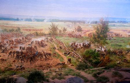 gettysburg battlefield: Diorama painting of the Battlefield in Gettysburg Pennsylvania USA