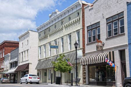 Lewisburg is a small town in West Virginia with a historic park in the Centre . The buildings on Main Street