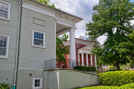 philanthropist: Carnegie Historic Buildings in Lewisburg Park in West Virginia USA