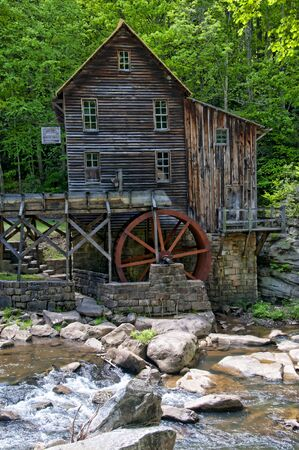 west virginia trees: Glade Creek Grist Mill in Babcock State Park West Virginia USA was a flour mill deep in the forest which has a fairytale quality I found enchanting