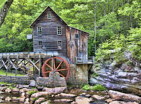 flour mill: Glade Creek Grist Mill in Babcock State Park West Virginia USA was a flour mill deep in the forest which has a fairytale quality I found enchanting