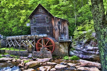 waterwheel: Glade Creek Grist Mill in Babcock State Park West Virginia USA was a flour mill deep in the forest which has a fairytale quality I found enchanting