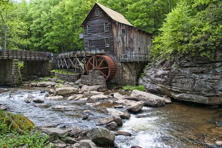 Glade Creek Grist Mill in Babcock State Park West Virginia USA was a flour mill deep in the forest which has a fairytale quality I found enchanting